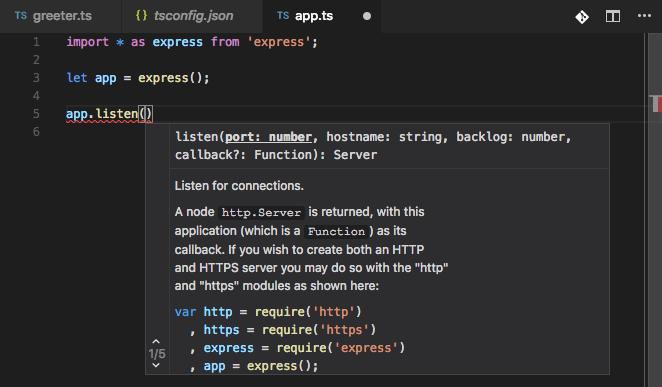 VS Code giving feedback as I type